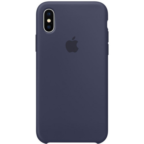 Silicon Case Apple iPhone XS Max тёмно-синий