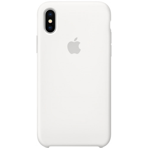 Silicon Case Apple iPhone XS Max белый